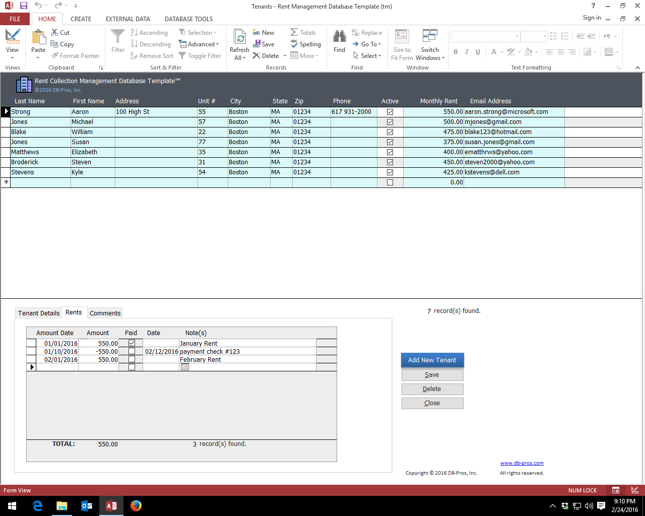 ms access hr database templates  property management ms access templates  customer billing